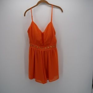 GB Orange Spaghetti Strap Cami Camisole Tank Top